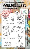 Rescue Puppies Aall and Create A6 Stamp Janet Klein 373 (AAL00373)