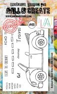 Road Trip No. 411 Aall and Create A6 sized stamp by Janet Klein (AAL00411)