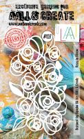 Roses in Bloom no. 127 A6 stencil by Bipasha BK for Aall and Create (AAL10127)
