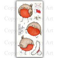 Round Robins Hobby Art Clear Stamp Set CS142D