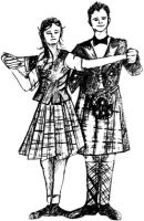 Crafty Stamps - Dancing couple - SC162M