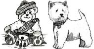 Crafty Stamps - Westie and Teddy set - SC4S
