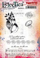 Sara Naumann 55 A5 Cling Rubber Stamp Set (ESN55) for PaperArtsy