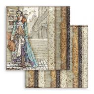 Scrapbooking paper 2 sided (12 inch by 12 inch) Lady Vagabond Stamperia (SBB762)