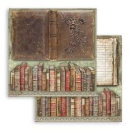 Scrapbooking paper 2 sided (12 inch by 12 inch) Lady Vagabond vintage books Stamperia (SBB758)