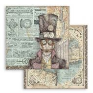 Scrapbooking paper 2 sided (12 inch by 12 inch) Sir Vagabond Stamperia (SBB745)
