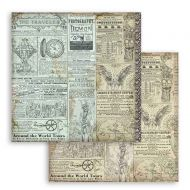 Scrapbooking paper 2 sided (12 inch by 12 inch) Sir Vagabond The Traveler Stamperia (SBB748)