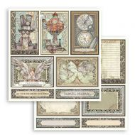 Scrapbooking paper 2 sided (12 inch by 12 inch) Sir Vagabond cards Stamperia (SBB750)