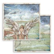 Scrapbooking paper 2 sided (12 inch by 12 inch) Sir Vagabond wings Stamperia (SBB749)