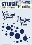 Scrapcosy Eclectica (PS223) Regular PaperArtsy Stencil