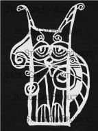 Scrappy Cat Stencil (L405) designed by Suzi Dennis for StencilGirl 9 inch by 12 inch