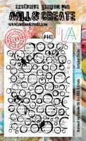 Scripted Circles No. 443 Aall and Create A6 sized stamp by Bipasha BK (AAL00443)
