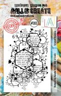 No. 383 Scripted Hexagons Aall and Create A7 Stamp