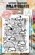 Scripted Semicircles No. 469 Bipasha BK Aall and Create A7 Stamp Set