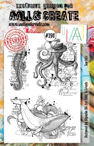 Sea Life No. 390 Aall and Create A5 sized stamp by Bipasha BK (AAL00390)