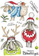 Seasons Bleatings (CS318D) Hobby Art Stamps