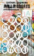 Secret Numbers (No. 101) A6 sized stencil by Autour de Mwa for Aall and Create (AAL10101)