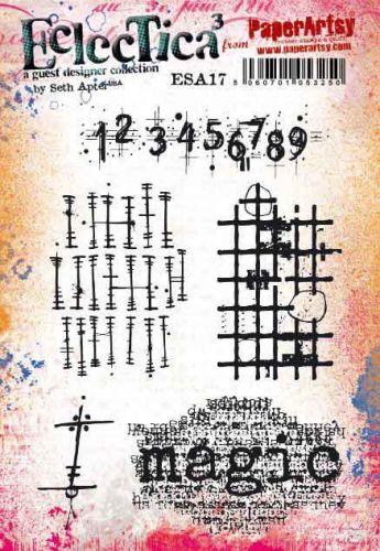 Seth Apter ESA17 PaperArtsy a5 cling rubber stamp set