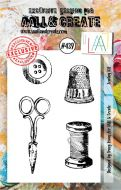 Sewing Kit (No. 439) A7 sized stamp by Tracy Evans for Aall and Create (AAL00439)