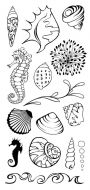 Shells DL Hobby Art Stamp Set (CS101D)