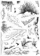 CS239D Hobby Art Stampes - Shore Scenes