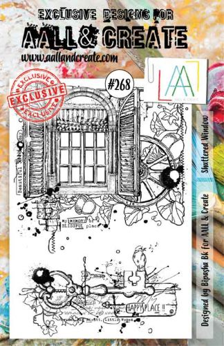 No. 268 Shuttered Window Aall and Create A5 Stamp