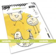 Silly Birdies Cling Stamp A6 by Kate Crane for Carabelle Studio (SA60540)