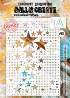 Smitten with Stars no. 121 A4 stencil by Autour de Mwa for Aall and Create (AAL10121)