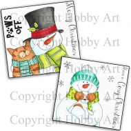 Snowman Bundle 2 x P6 Clear Stamp Stamps by Hobby Art (P6SNOW2)
