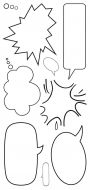 CS149D Hobby Art Stamps - Speech Bubbles