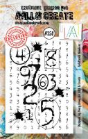 No. 350 Splattered Numbers Aall and Create A7 Stamp