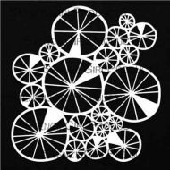 Spoked Wheels Collage 6 inch by 6 inch Stencil (S709) by Jennifer Evans for StencilGirl