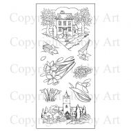 Spring Scenes Hobby Art Clear Stamp Set (CS091D)