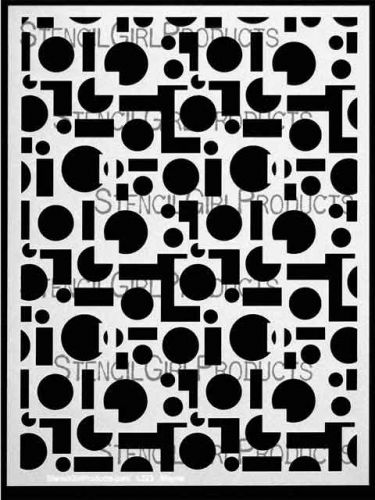 Squares and Dots-9 by Lizzie Mayne for StencilGirl