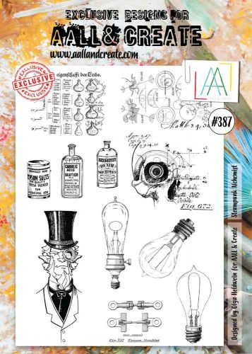 Steampunk Alchemist No. 387 Aall and Create A4 sized stamp by Olga Heldwein (AAL00387)