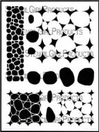 Stone and Pebble Tilings Stencil (L706) designed by Valerie Sjodin for StencilGirl 9 inch by 12 inch