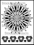 Striped Mandala with Border 9 inch by 12 inch Stencil (L542) by Kristie Taylor for StencilGirl
