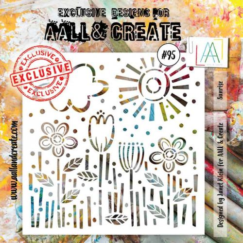 No. 95 Sunrise Aall and Create 6 by 6 Stencil