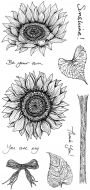 Sunshine and Sunflowers Hobby Art Stamp Set (CS209D)