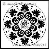 Suzani Circle Medallion?(S847) by Gwen Lafleur for StencilGirl