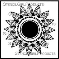 Suzani Flower Medallion (S848) by Gwen Lafleur for StencilGirl