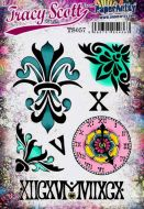 Tracy Scott A5 size PaperArtsy Cling Rubber Stamp Set (No. 57) - TS057