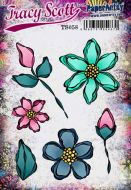 Tracy Scott A5 size PaperArtsy Cling Rubber Stamp Set (No. 58) - TS058