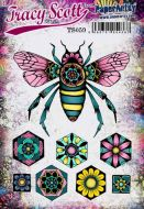 Tracy Scott A5 size PaperArtsy Cling Rubber Stamp Set (No. 59) - TS059
