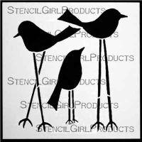 Tall Birds (S110) Stencil designed by Terri Stegmiller for StencilGirl (6