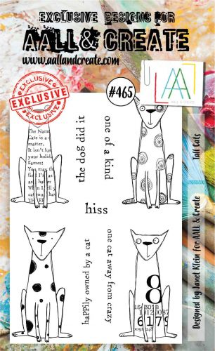 Tall Cats No. 465 Janet Klein Aall and Create A6 Stamp Set