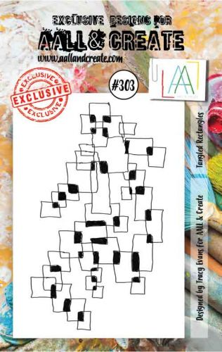 No. 303 Tangled Rectangles Aall and Create A7 Stamp