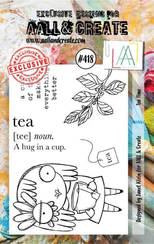 Tea Time No. 418 Aall and Create A7 sized stamp by Janet Klein (AAL00418)