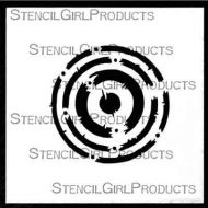 Techno Insiders Circle 4 inch by 4 inch Stencil (M086) by Seth Apter for StencilGirl
