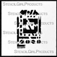 Techno Insiders Tag 4 inch by 4 inch Stencil (M088) by Seth Apter for StencilGirl